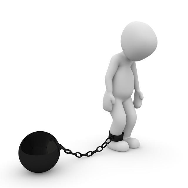 Caught, Prison, Chain, Metal, Figure, Ball, Steel