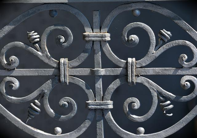 Iron Railings, Wrought Iron, Ornament, Metal