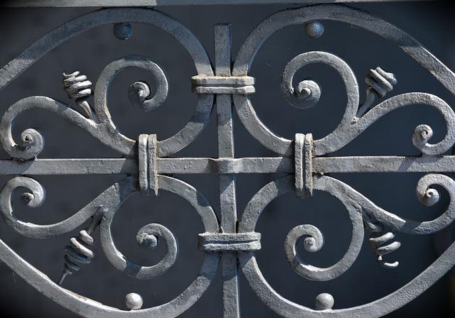 Iron Railings, Wrought Iron, Ornament, Metal