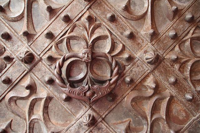 Doorknocker, Door, Metal, Antique, Handle, Ornament