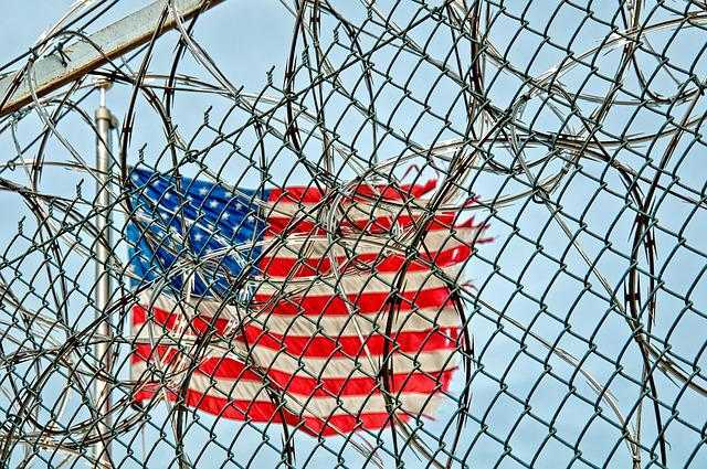 Prison, Jail, Detention, Fence, Wire, Barbed, Metal