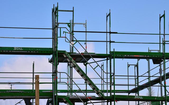 Scaffold, Site, Metal, Sky, House Construction, Head