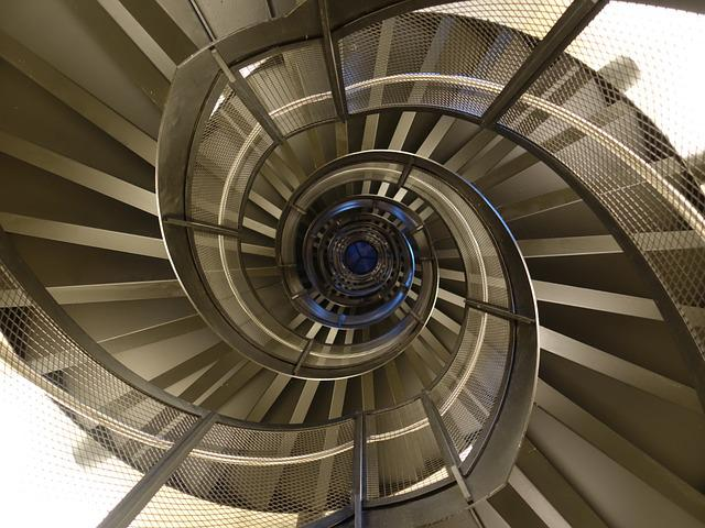 Spiral Staircase, Spiral, Metal, Geometry, Emergence