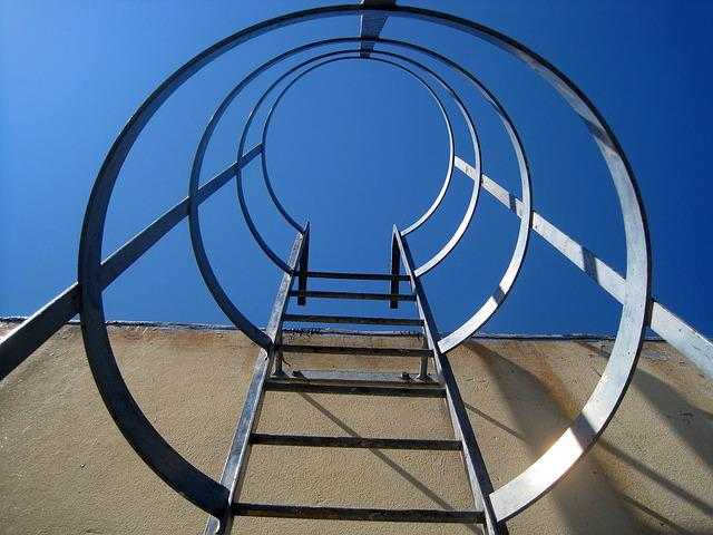 Metal Stairs, Stairs, Upright, Access, Metal, Ladder