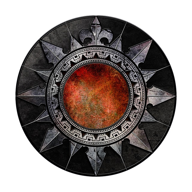 Gothic, Metal, Shield, Emblem, Symbol