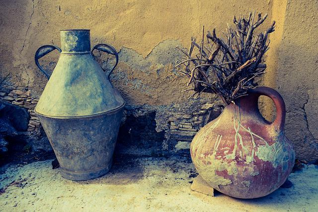 Containers, Metallic, Pottery, Ceramic, Clay, Craft