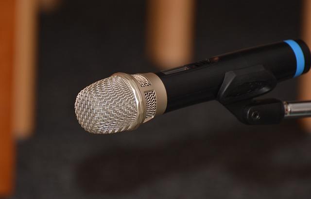 Microphone, Micro, Technology, Talk, Grid, Metallic