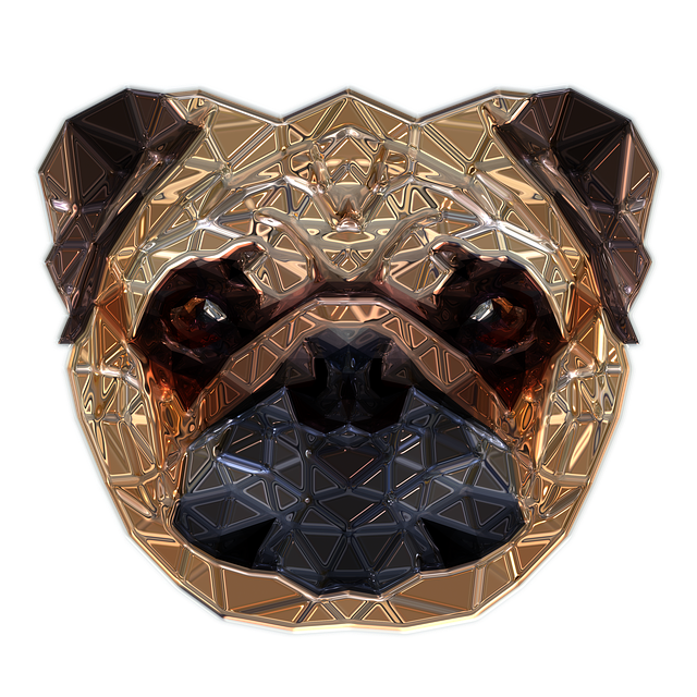 Dog Head, Metallizer, Art, Glass, Factory