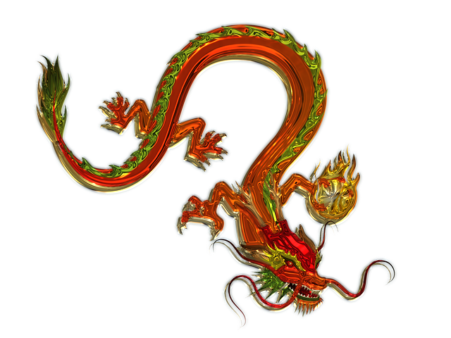 Dragon, Art, Glass, Metallizer, China, Fig, Figures
