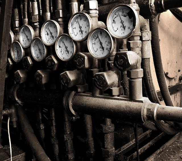 Meters, Armatures, Pipes, Factory, Gauges, Equipment