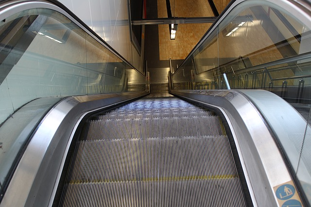 Escalator, Railing, Metro
