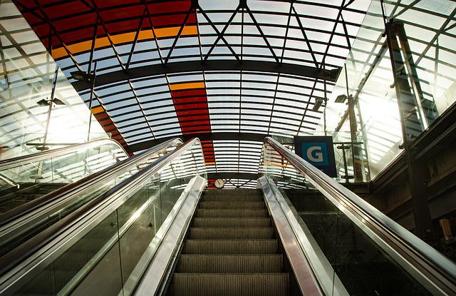 Escalator, Station, Transportation, Subway, Metro