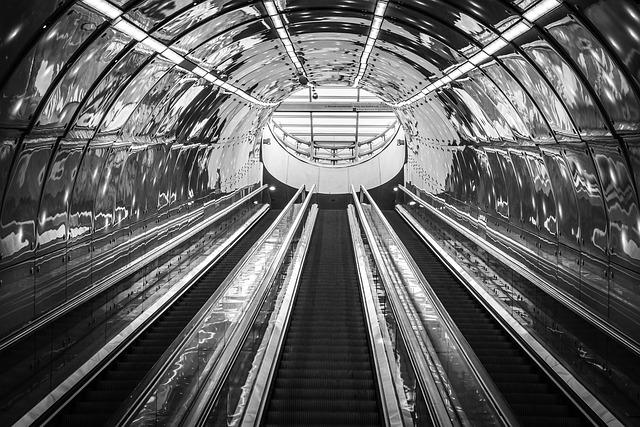 Escalator, Metro, Station, Subway, Modern, Underground