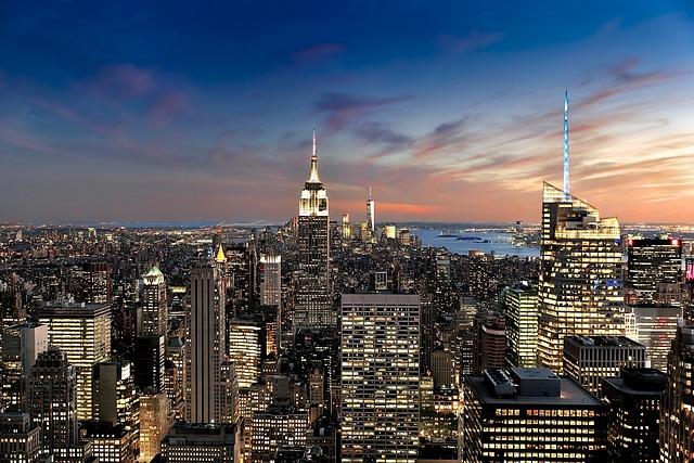 New York, America, Usa, Skyscraper, Metropolis