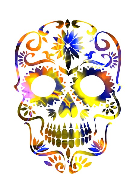 Skull, Sugar Skull, Mexican, Mexico, Colorful