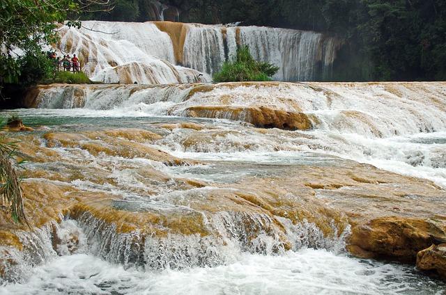 Mexico, Chiapas, Agua Azul, Cascade, Water, River, Fast