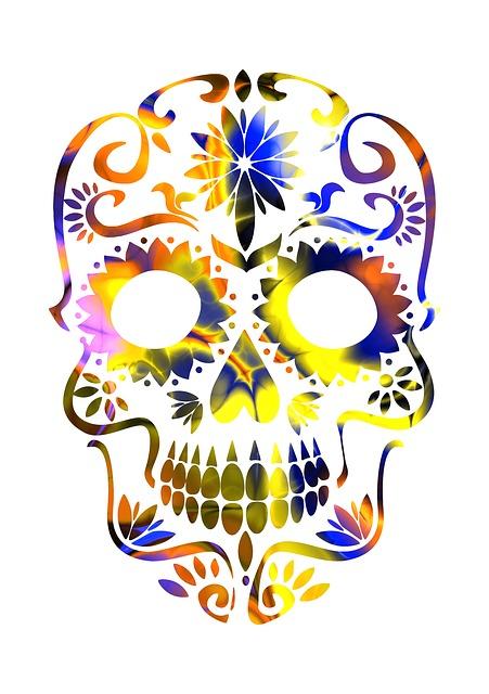 Skull, Sugar Skull, Mexican, Mexico, Colorful