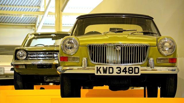 Classic Car, British, Mg, Classic, Car, Vintage