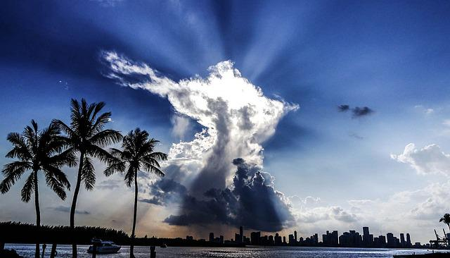 Miami, Florida, Maimi Fl, Symbol, Sky, Sky Formation