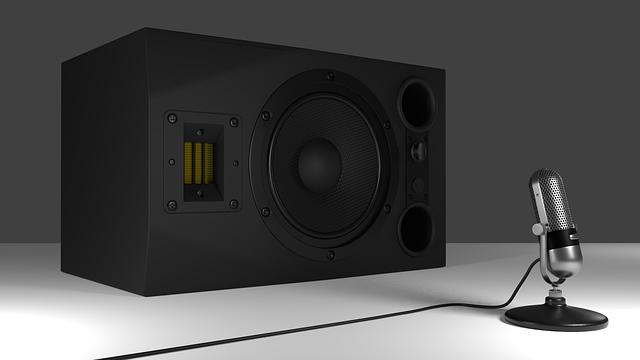Speakers, Microphone, 3d