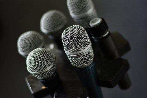 Microphone, Micro, Microphone Stand, Karaoke, Voice