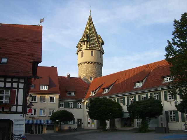 Ravensburg, Middle Ages, Tower, Pointed, Downtown