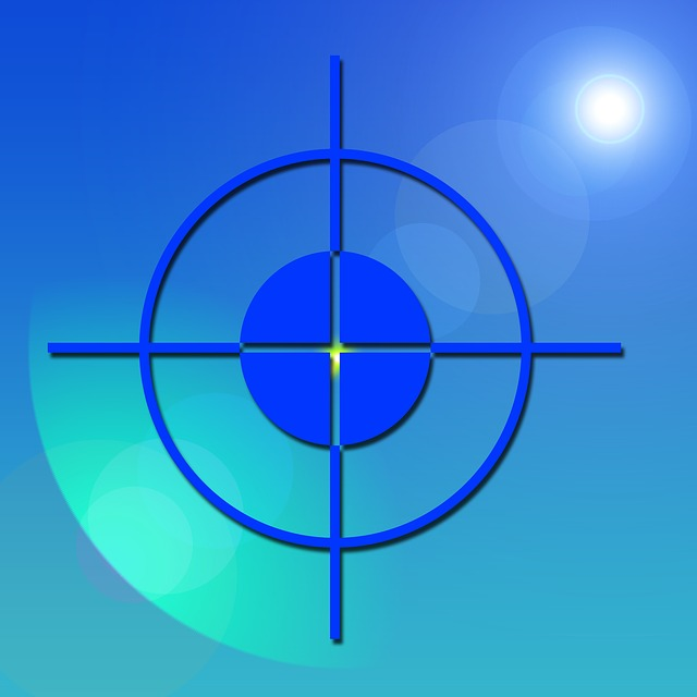 Visor, Crosshair, Focal Point, Center, Middle, Blue