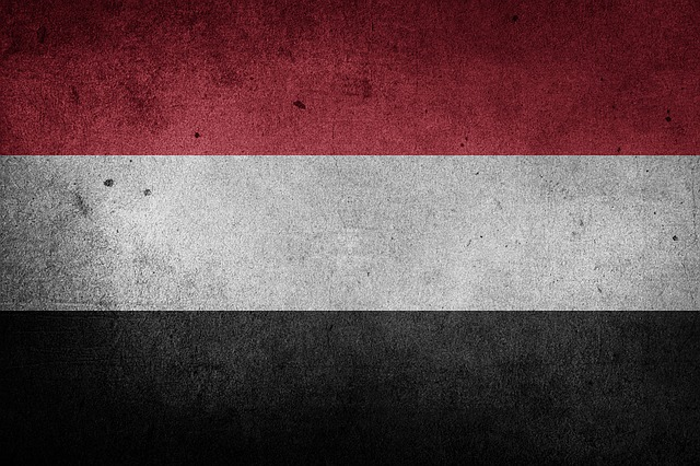 Yemen, Flag, Grunge, Asia, Middle East, National Flag