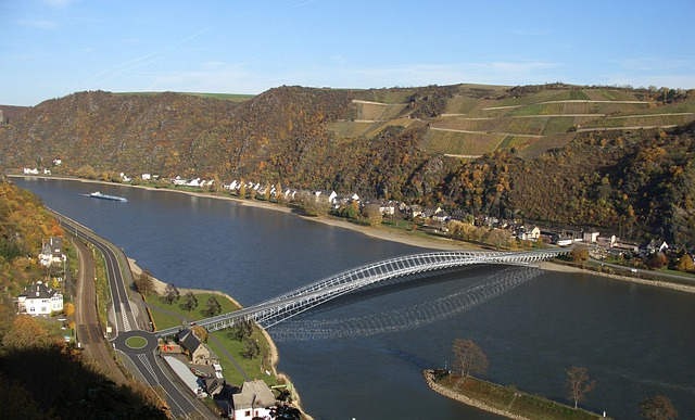Bridge, Middle Rhine Bridge, Middle Rhine, Germany