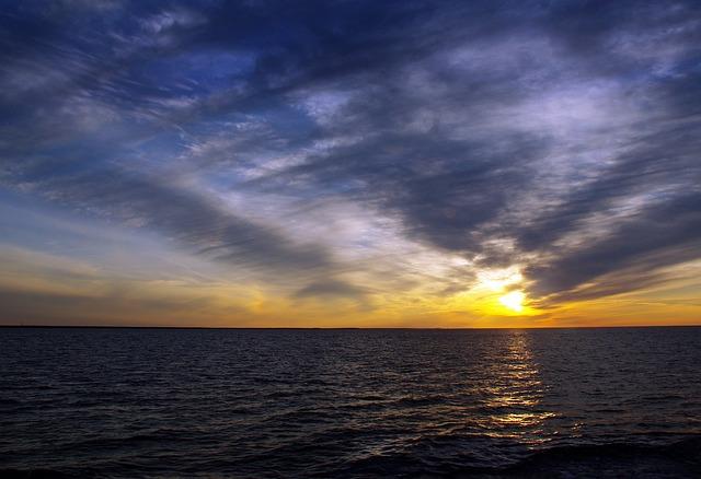 Lake Onega, Karelia, Midnight Sun, Sunset, Landscape