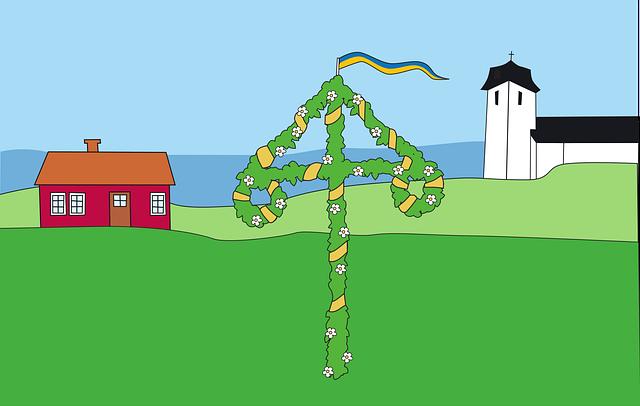 Midsummer, Swedish Flag, National Day, Summer Vacation