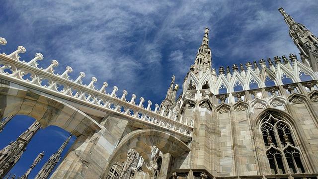 Blue Sky, Church, Dome, Milan
