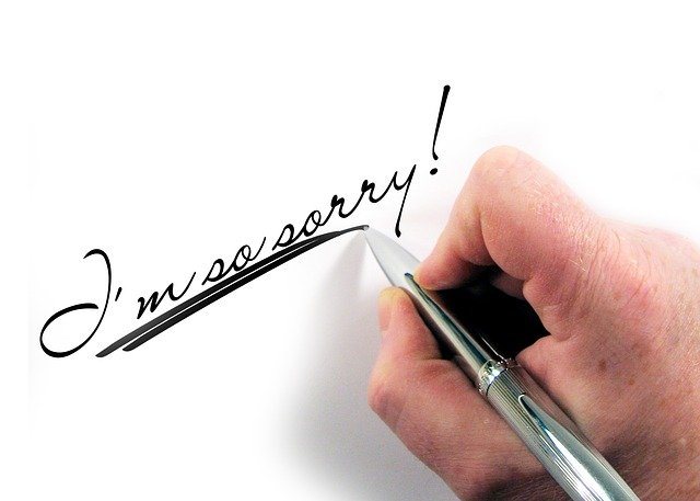 Letters, Hand, Write, Pen, Excuse Me, Mercy, Milde
