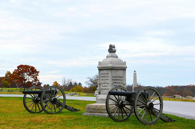 Cannon, History, Battle, Military, Gettysburg, Monument