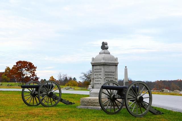 Cannon, History, Battle, Military, Gettysburg, Monument
