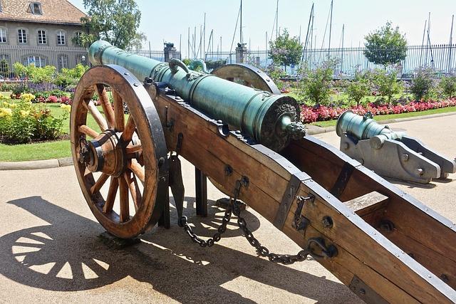Cannon, Wheel, Old, War, Military, Gun, Battle, Metal