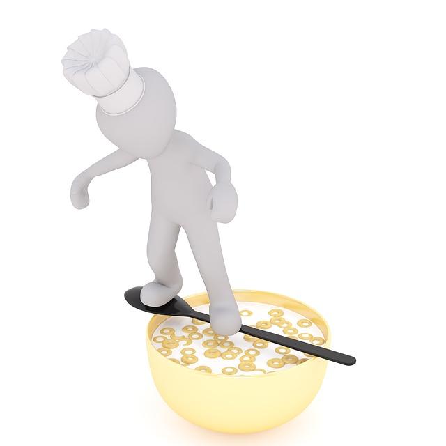Muesli, Cereal Bowl, Loops, Milk, Cooking, Males