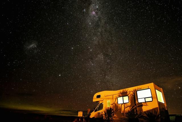 Camper, Camping, Constellation, Dark, Light, Milky Way