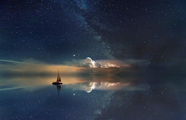 Ocean, Starry Sky, Milky Way, Rest, Sailing Boat, Boat