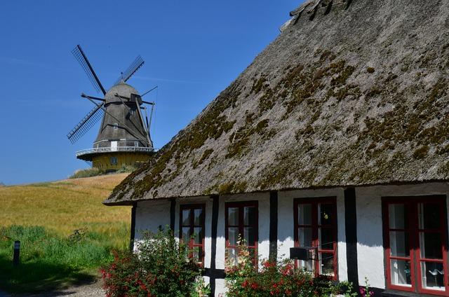 Mill, Denmark, Summer Holiday, Windmill, Wind