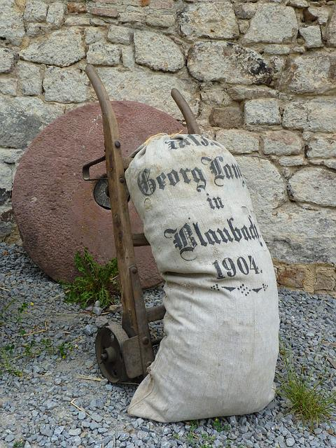 Flour Sack, Mill, Open Air Museum, Old Historic