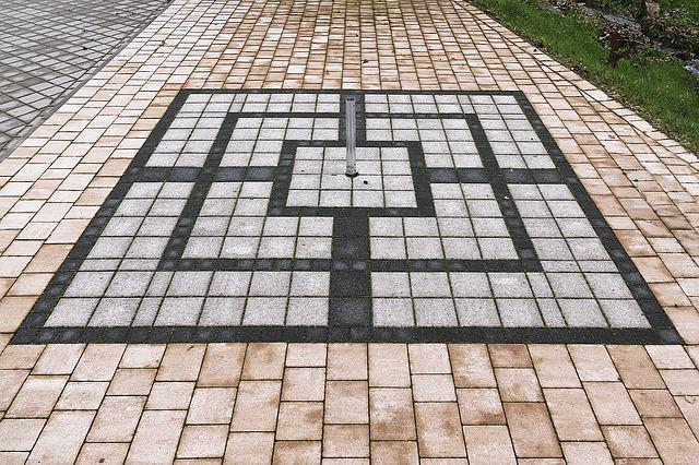 Mill, Mill Game, Paving Stones, Patch, Paved