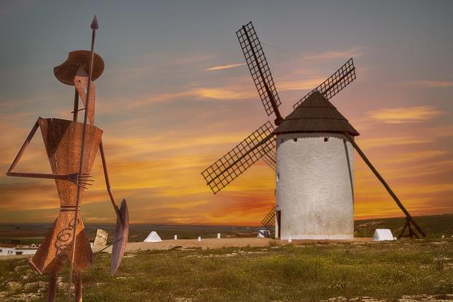 Sunset, Sky, Horizon, Twilight, Mill