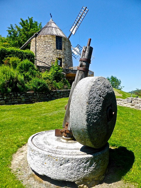 Grinding Wheel, Windmill, Milling, Wheel, Old, Mill