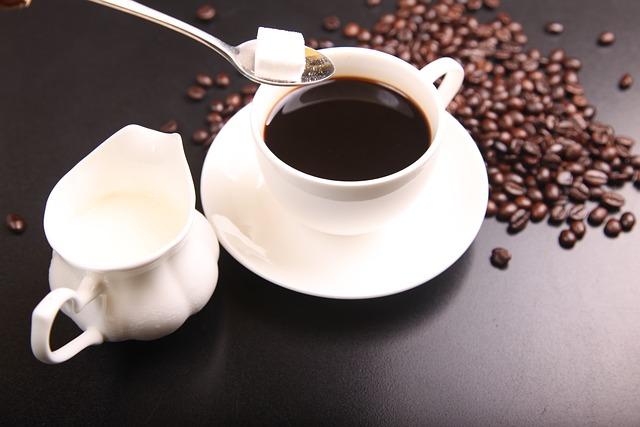 Coffee, Coffee Beans, Cup Of Coffee, Millk, Sugar
