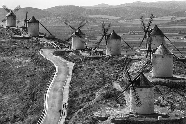 Mills, Consuegra, Stain, Don Quixote, Toledo, Spain
