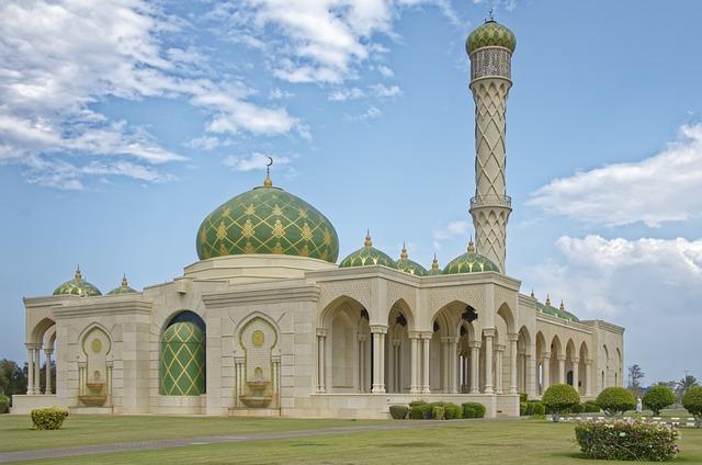 Oman, Muscat, Zulfa Mosque, Minaret, Dome, Architecture