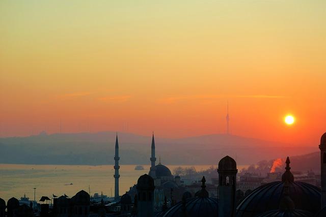 Istanbul, Day Nativity, Marine, Minaret, Travel, On