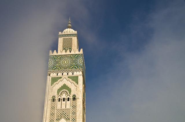 Casablanca, Mosque, Minaret, Fog, Morocco, Muslim