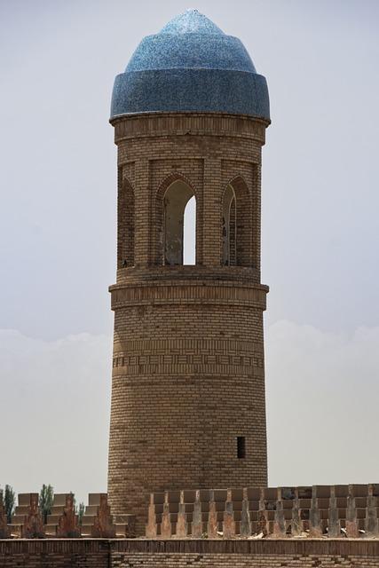 Tajikistan, Hulbuk, Citadel, Minaret, Historically